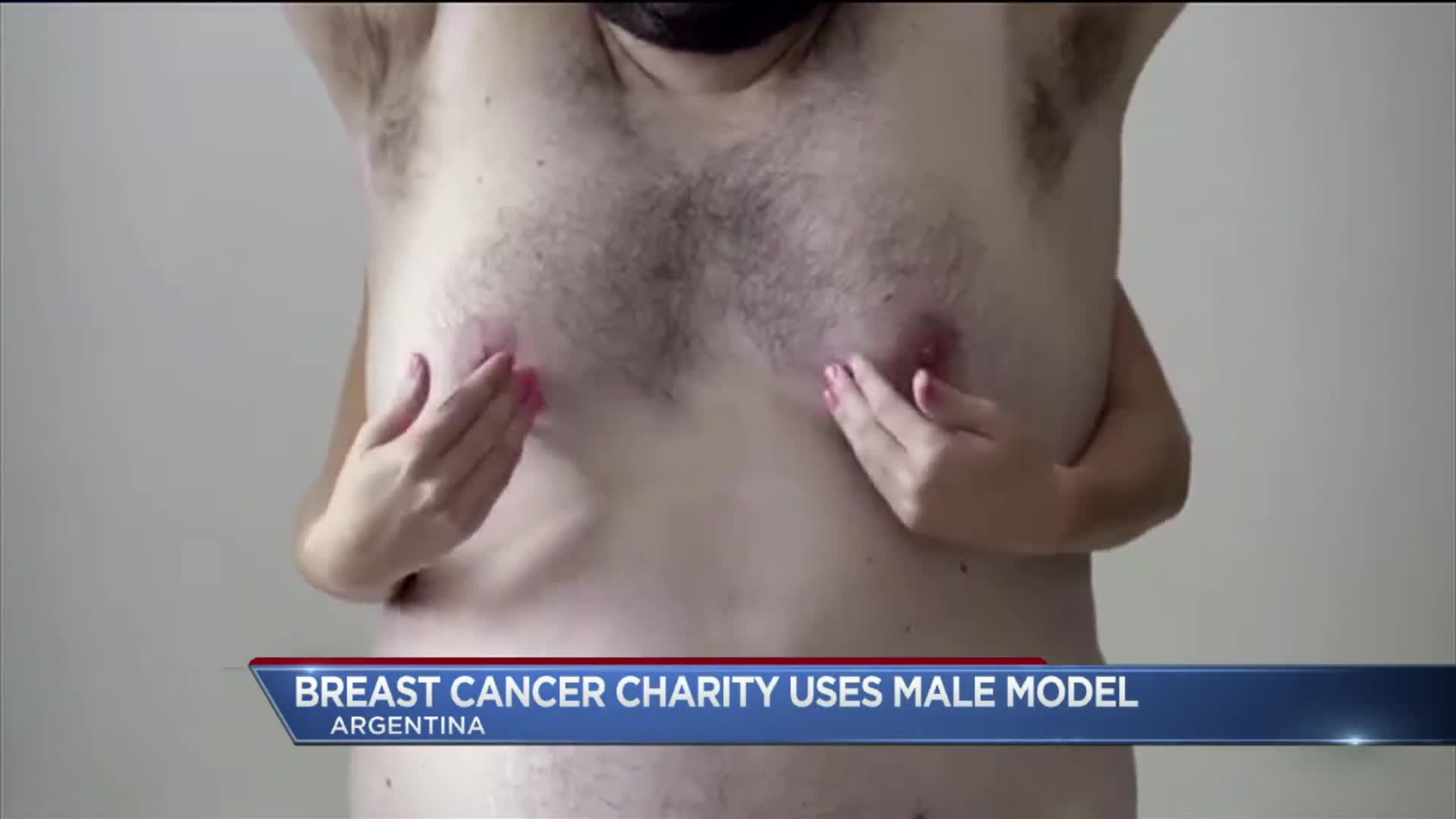 Breast Cancer Awareness Campaign Uses 'Man Boobs' to Avoid Censorship