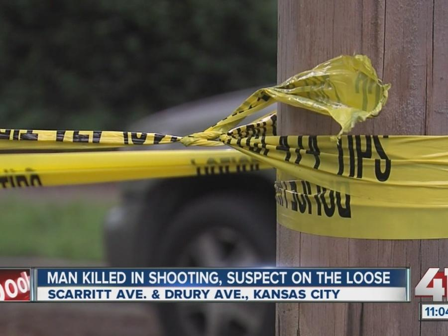 Man killed in shooting, suspect on the loose