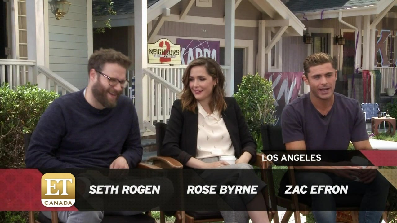 Seth Rogen And Zac Efron Talk 'Neighbors 2'