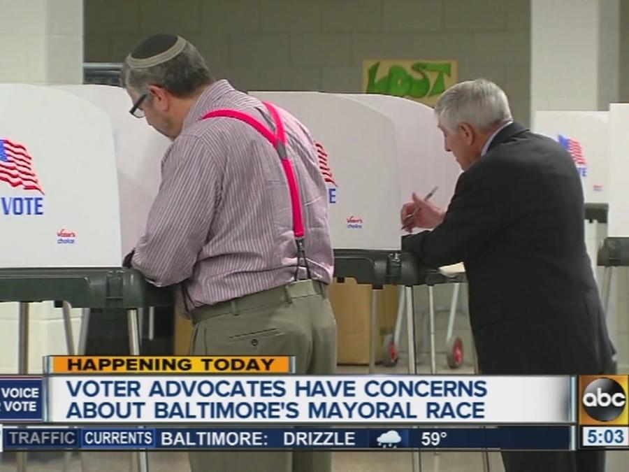Voter advocates express concerns about Baltimore's mayoral race