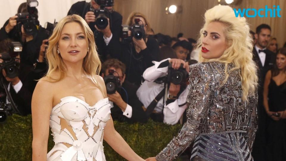 Did Lady Gaga Just Grope Kate Hudson At The 2016 Met Gala