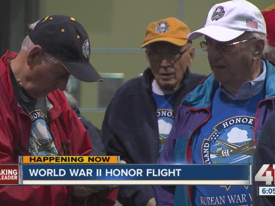 World War II Honor Flight leaves KC Tuesday morning