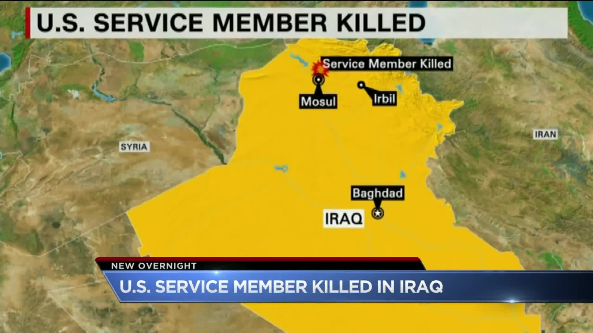 American Service Member Killed in Iraq