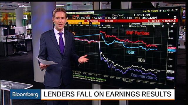 European Stocks Suffer Earnings-Induced Selloff