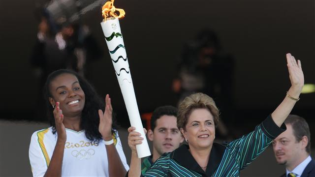 The Olympic Torch Arrives in Brazil