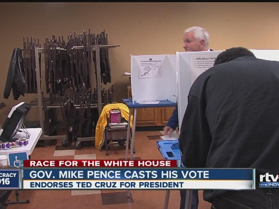 Gov. Mike Pence casts vote for president