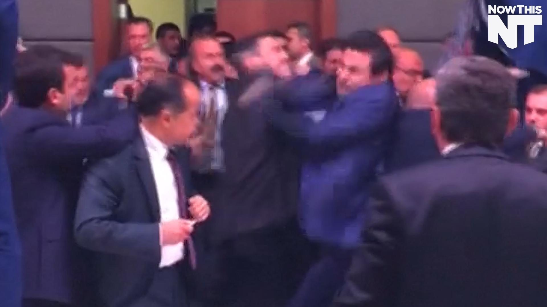 Watch These Turkish Politicians Duke It Out In Parliament