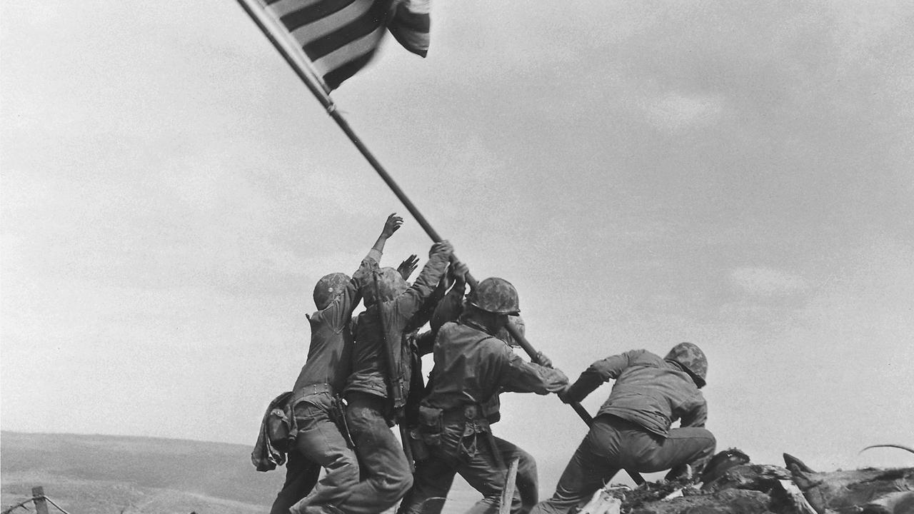 Marines Investigate Iconic Photograph