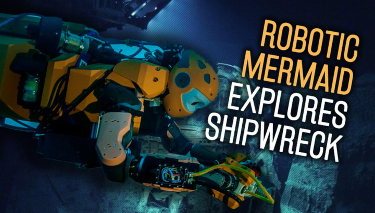 Robotic Mermaids Hunt For Sunken Treasure