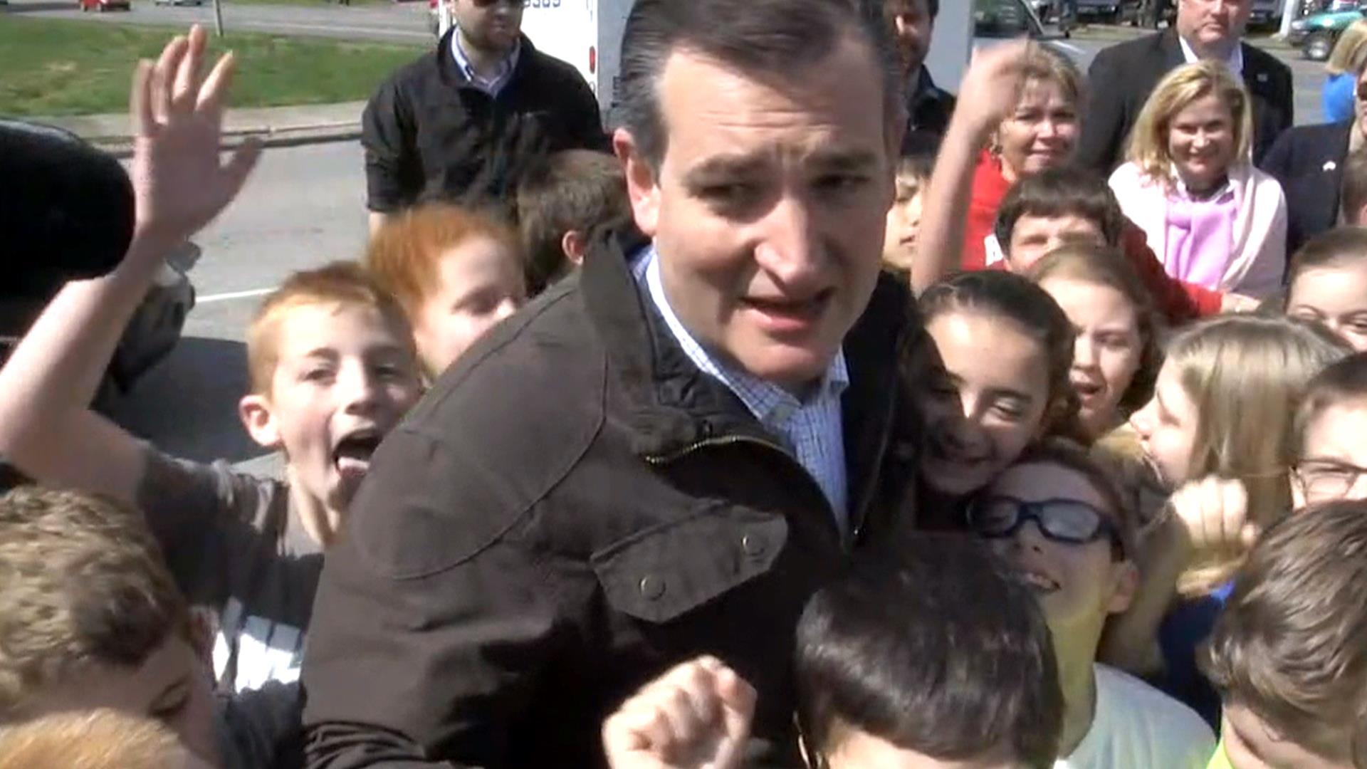 Cruz Mobbed By Kids, Jokes Voting Age Should Be Lowered