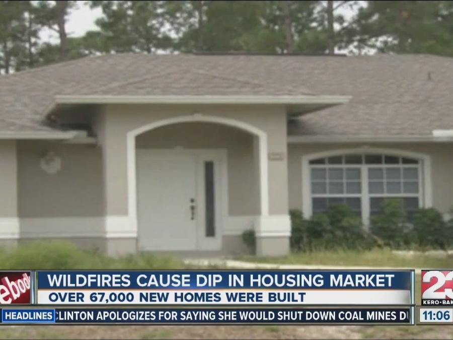 Wildfires cause dip in housing market