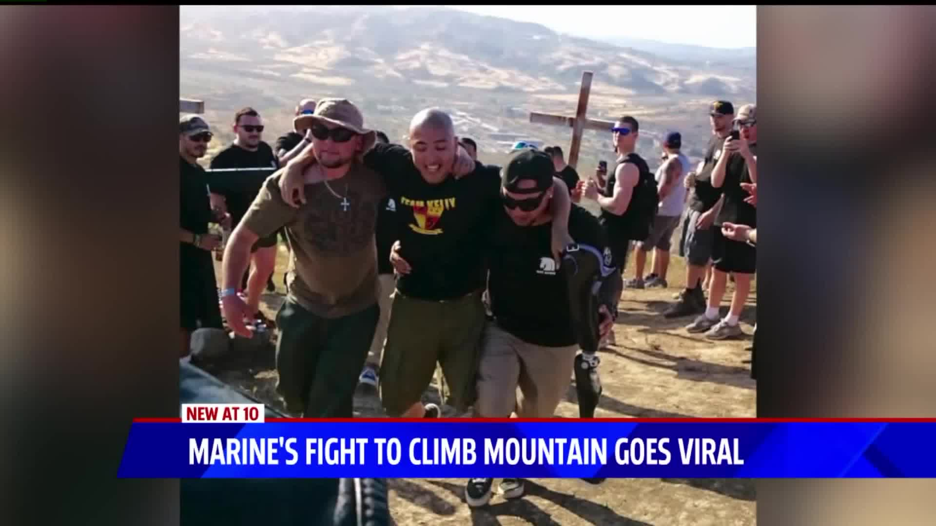 Retired Marine's Amazing Act of Determination Goes Viral