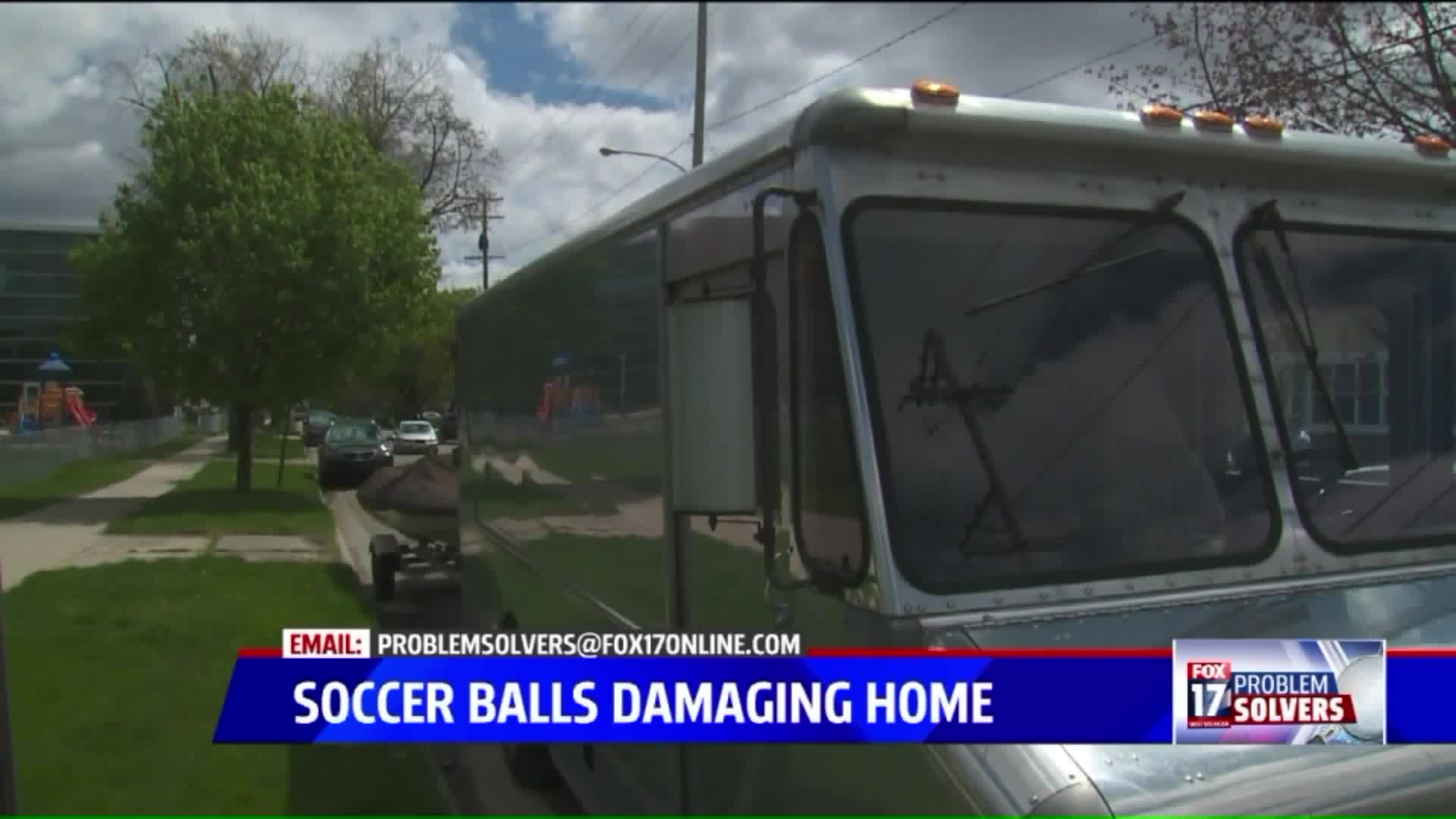 Man Says Soccer Balls From School Have Been Damaging His Home For Years