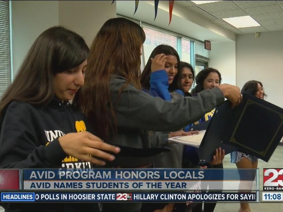 AVID students honored