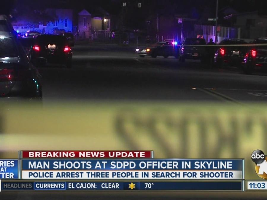 Man shoots at SDPD officer in Skyline
