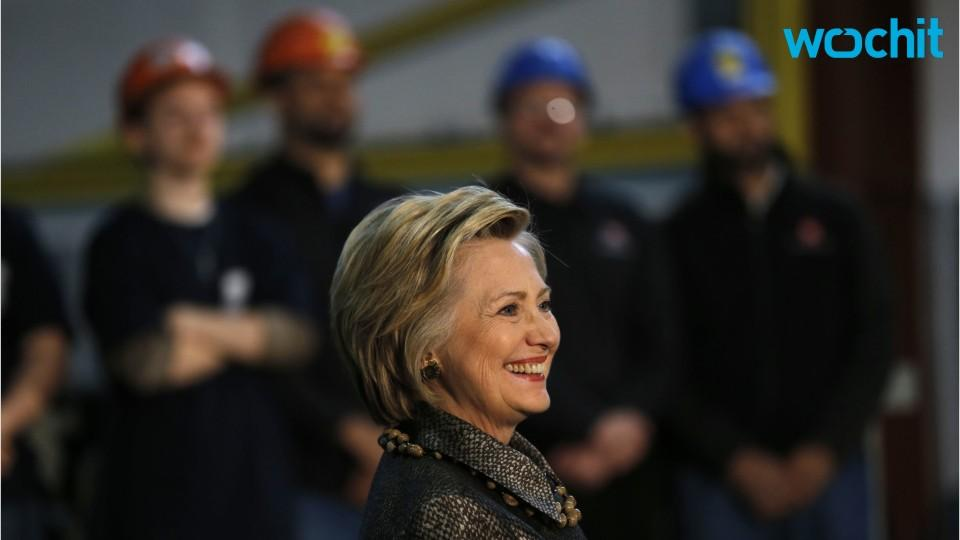 Hillary Clinton Visits Ironworkers in Indiana to Thank Them for Hard Work