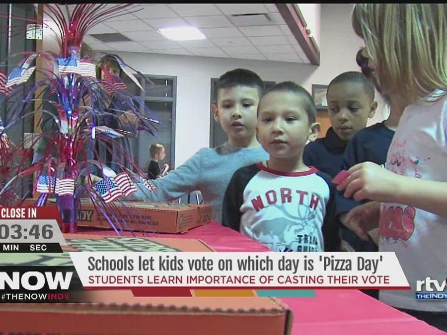 WATCH: Rock the vote... For pizza!