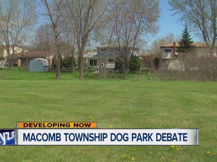 Macomb Township dog park debate