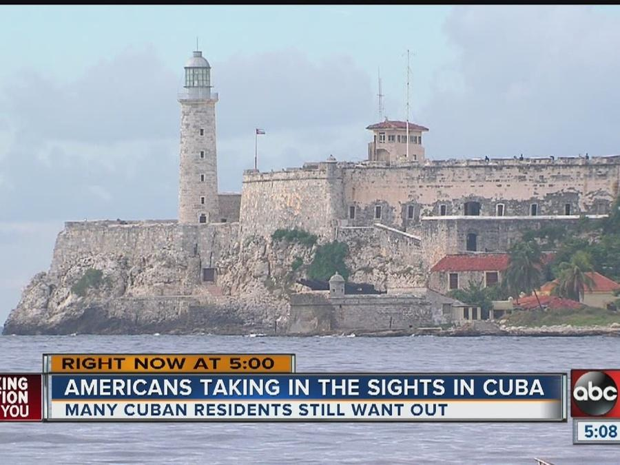 Americans taking in the sights in Cuba