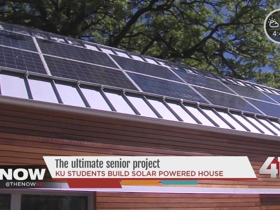 KU students build solar-powered house