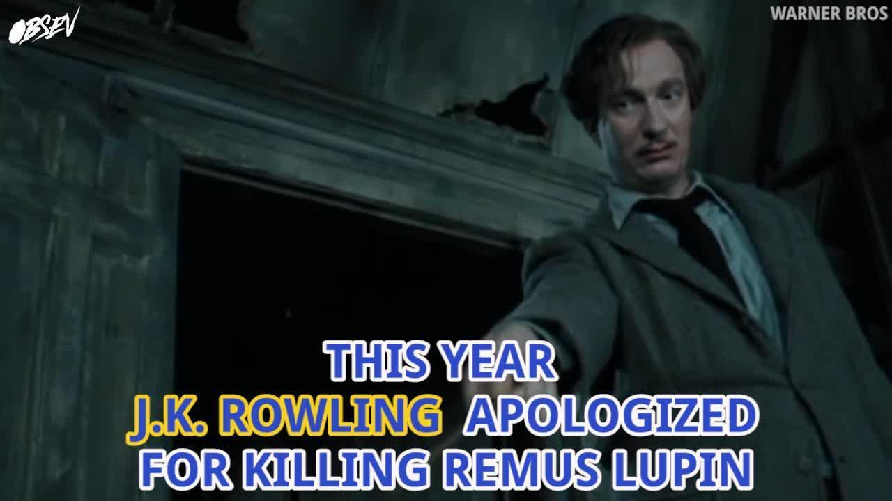 J.K. Rowling Apologizes For Harry Potter Death