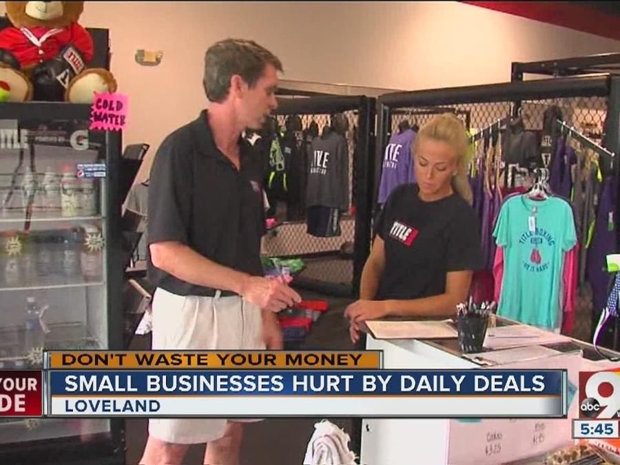 Daily deals hurt small businesses