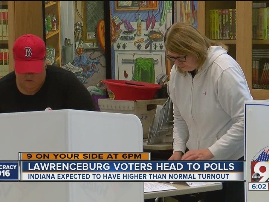Light turnout in Lawrenceburg for Indiana primary