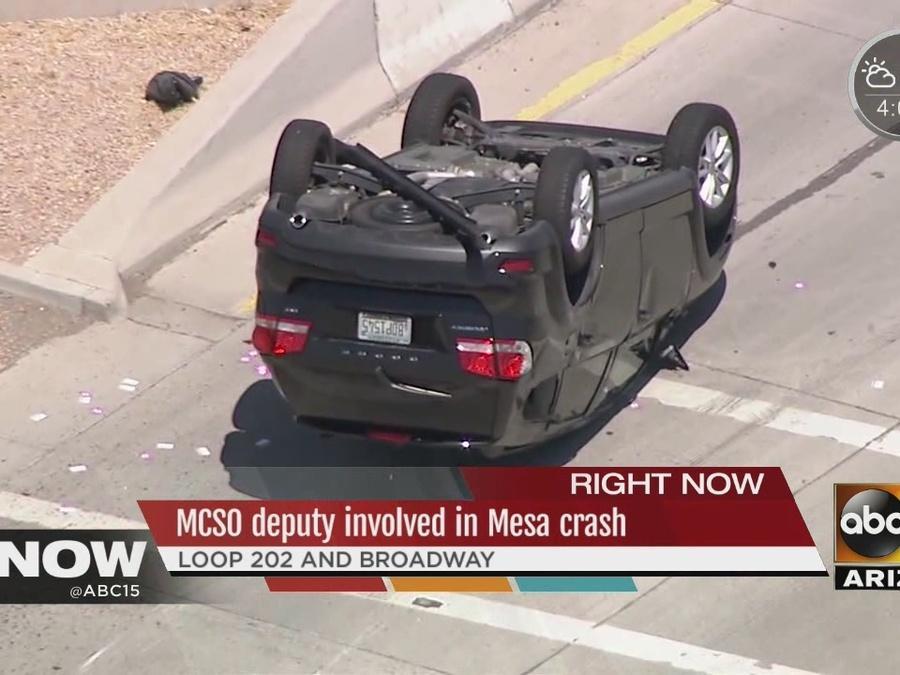 MCSO deputy involved in Mesa crash