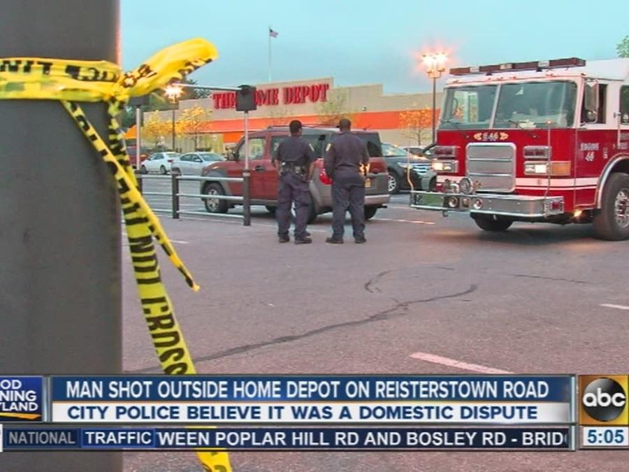 Man shot outside Home Depot on Reisterstown Road