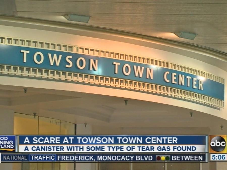 Tear gas substance reported at Towson Town Mall