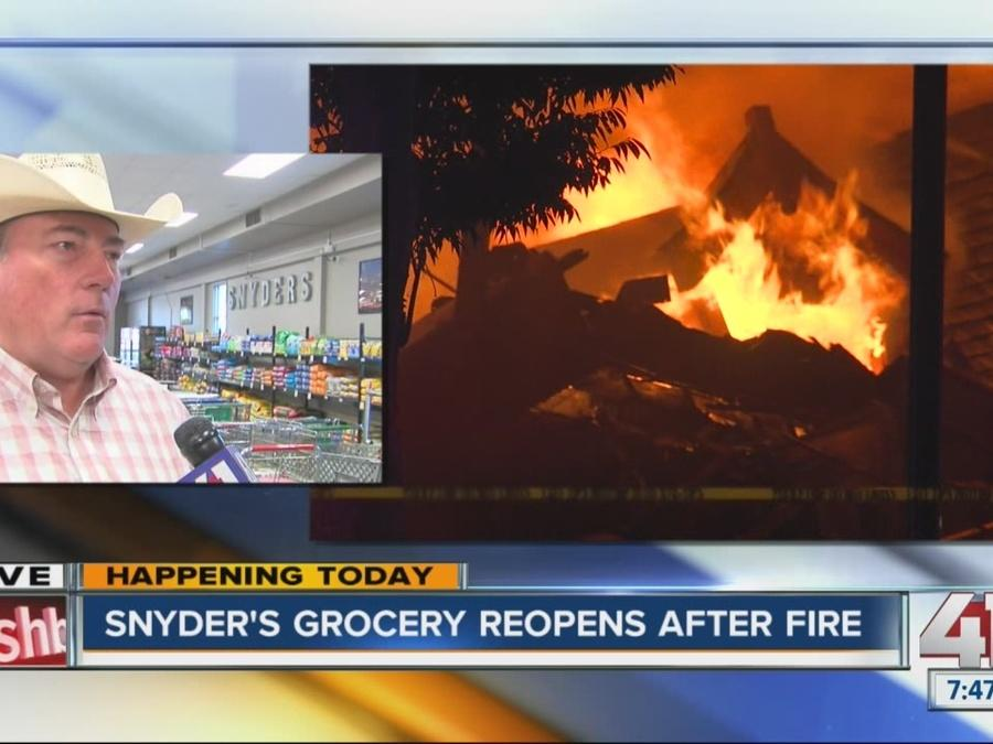 Snyder's Grocery Store reopens after Arson fire