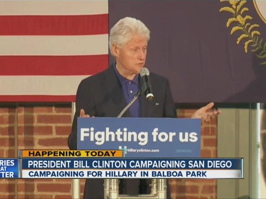 Bill Clinton holds free rally in Balboa Park