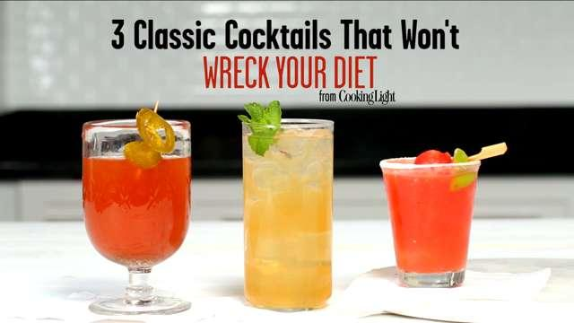 Three Classic Cocktails That Won't Wreck Your Diet