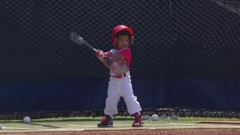Like father like son: Dat Dude Jr. shows off skills on the diamond