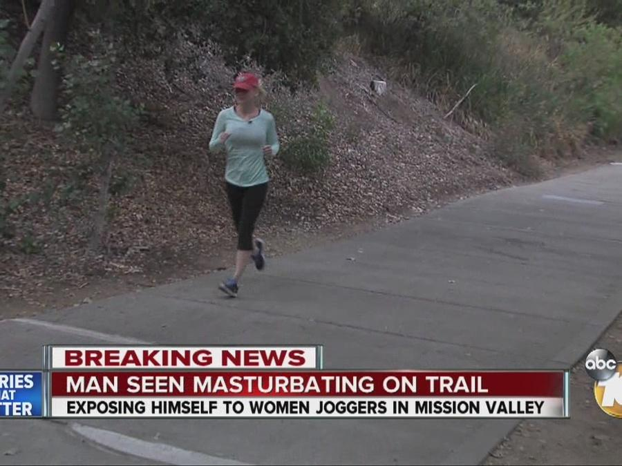 Man seen masturbating on popular trail