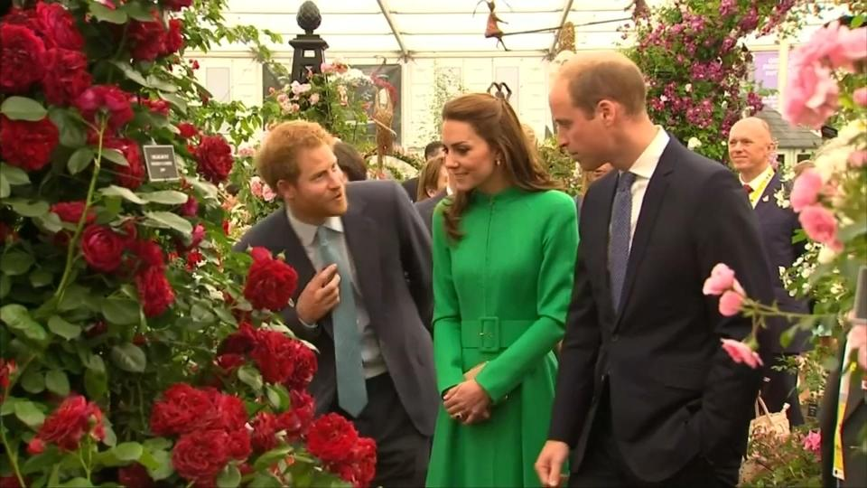 British royals at Chelsea flower show