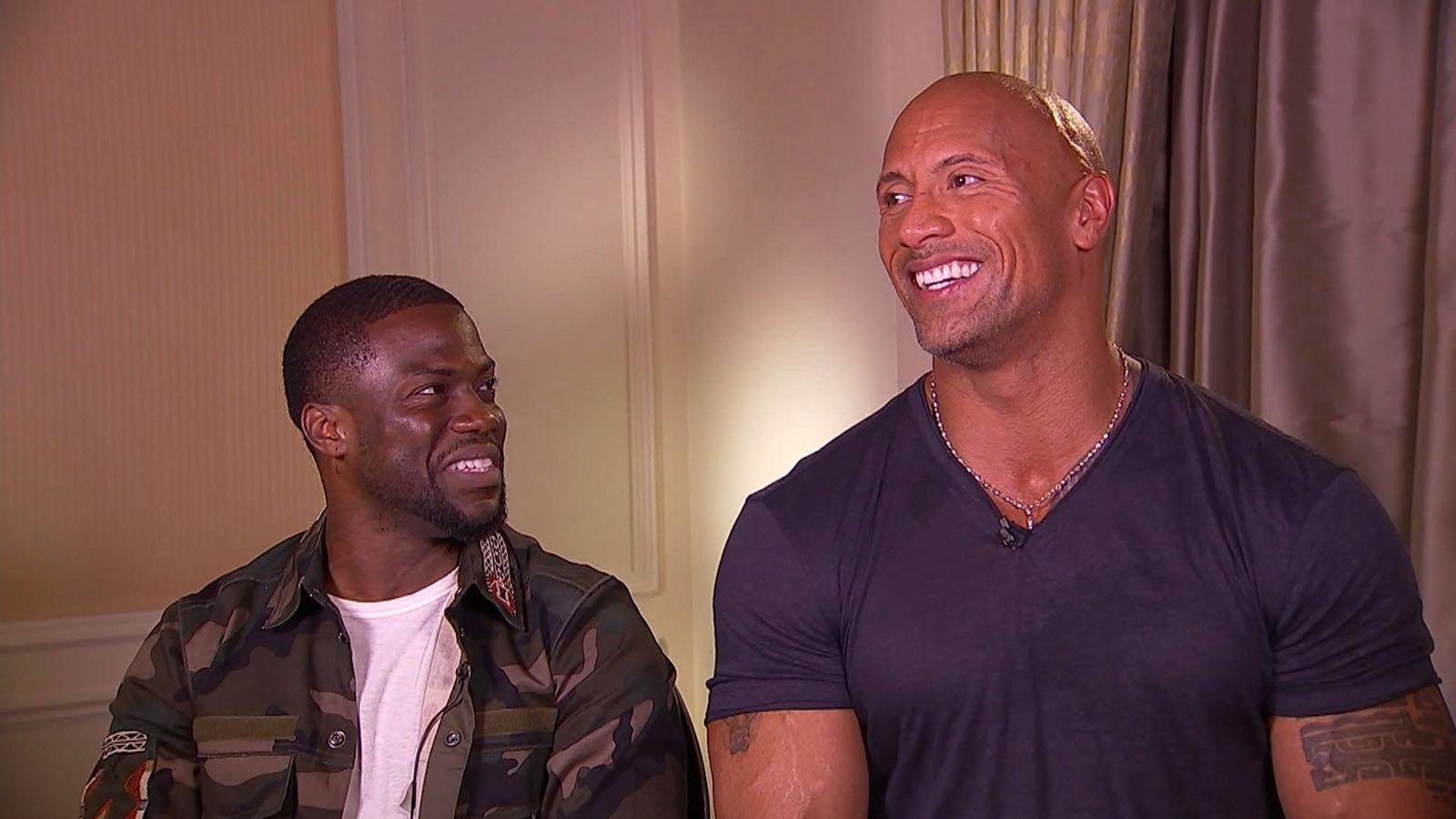Kevin Hart & Dwayne Johnson Admit They're 'Highly Competitive'