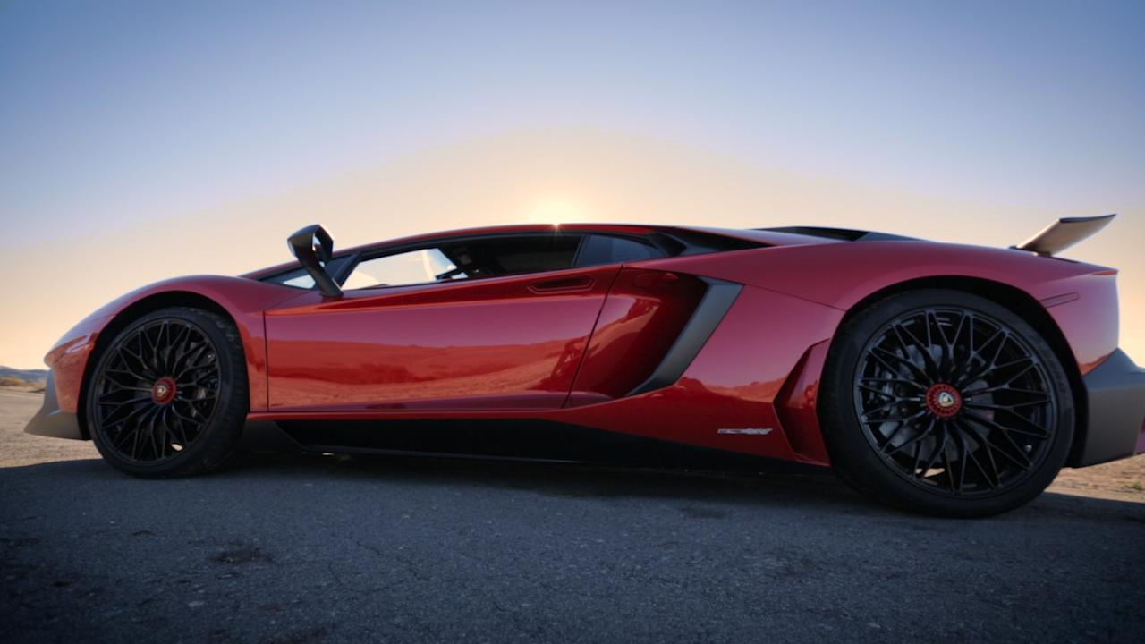On the road: Lamborghini Aventador SV