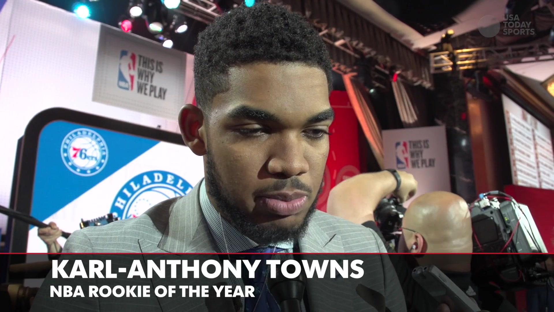 Towns Sees a Little Westbrook in HS Teammate Baldwin