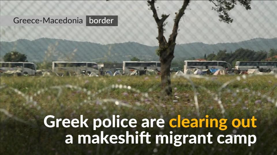 Greece starts clearing out thousands from makeshift migrant border camp