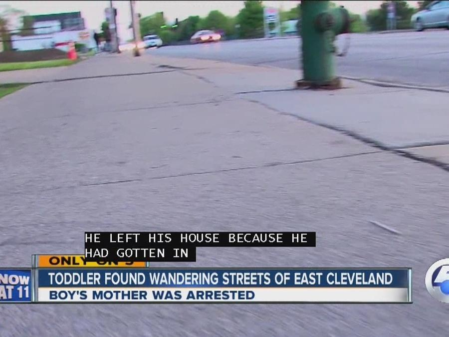 Toddler found wandering the streets of East Cleveland