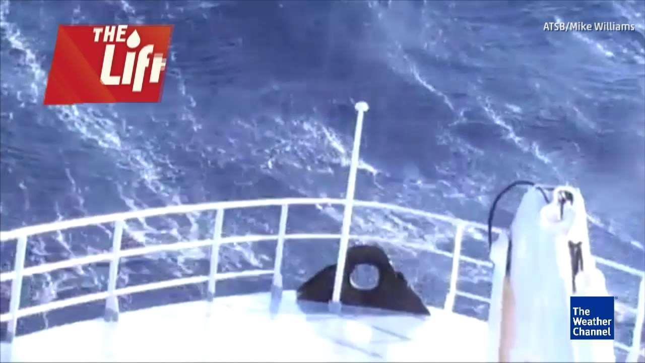 Waves Batter Australian Vessel
