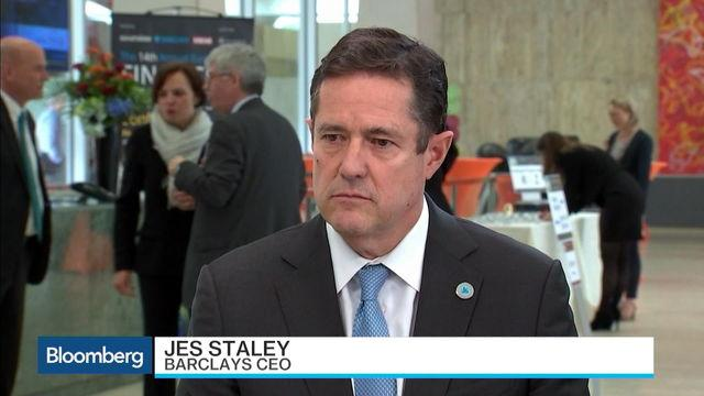 Barclays CEO Staley: Market Pricing in Rate Increases