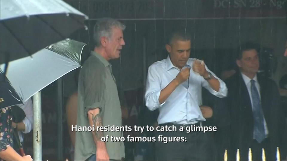 Obama interviewed by Anthony Bourdain in Vietnam