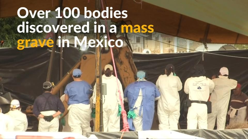 Over 100 bodies dumped in a mass grave in Mexico