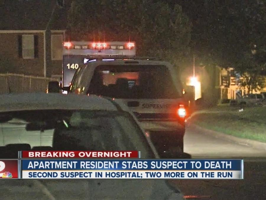 Break-in suspect stabbed to death by south Tulsa apartment resident; one more hurt as two flee
