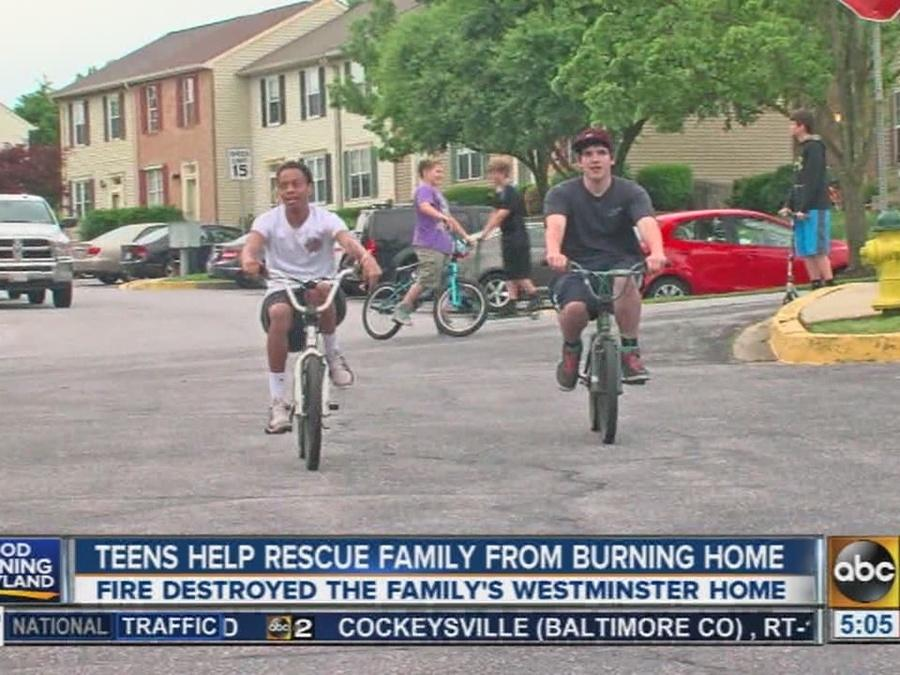 Teens help rescue family from burning home in Westminster