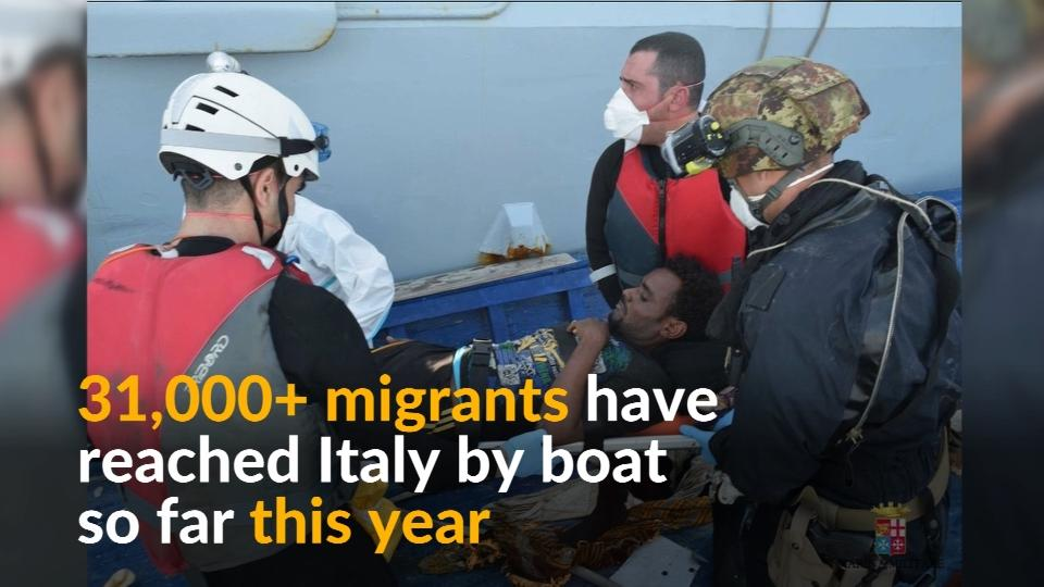 Italy helps rescue 2,600 migrants from sea in 24 hours