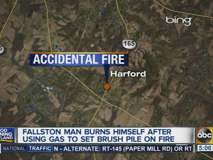 Man severely burned after using gas to set brush fire