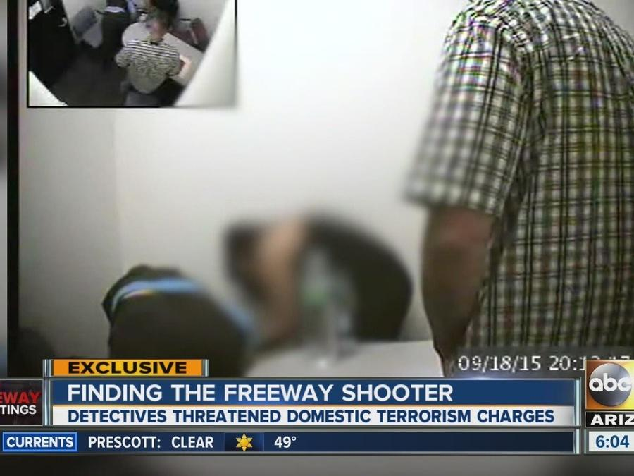 Interrogation footage shows freeway shooting suspect's wife getting grilled